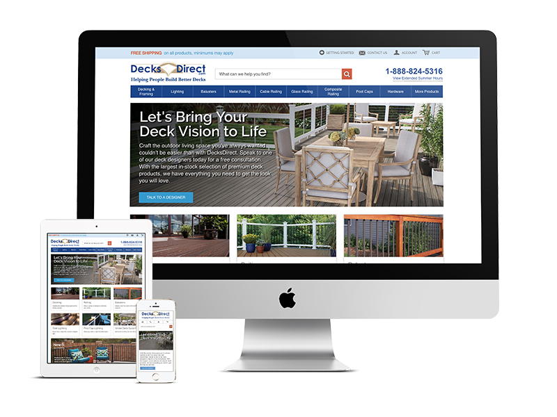 DecksDirect Home Page Redesign Case Study